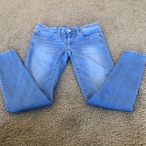 Bright Blue American Eagle Skinny Jeans